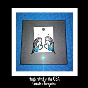 Gorgeous Turquoise Earrings Handcrafted in the USA